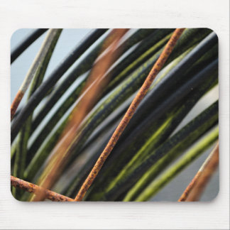 abstract black red and green urban photograph mouse pad