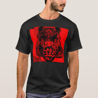 "Abstract Black/Red ""Beast"" T-Shirt"