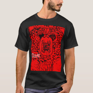 """Abstract Black/Red """"Beast"""" T-Shirt"""