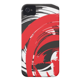 Abstract Black Red White Swirl iPhone 4/4S Case-Ma iPhone 4 Case