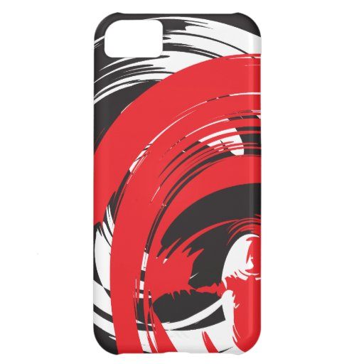 Abstract Black Red White Swirl iPhone 5 Case-Ma iPhone 5C Cover