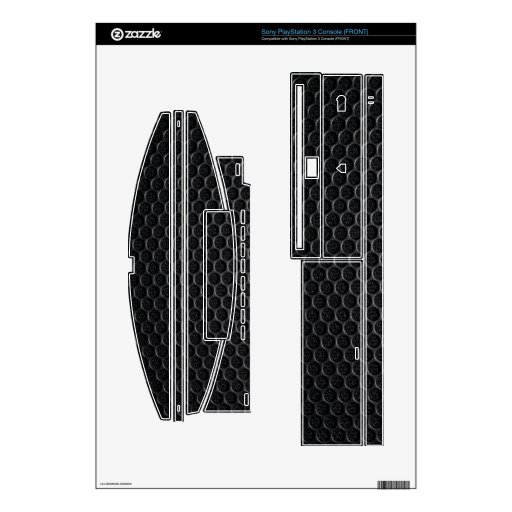 Abstract Black screen Skin For PS3 Console