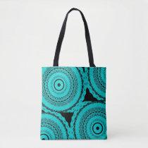 Abstract Black Water Shoulder Handbag