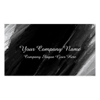 Abstract Black Watercolor Business Card