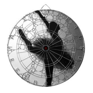 Abstract Black & White Dancing Ballerina Dart Boards