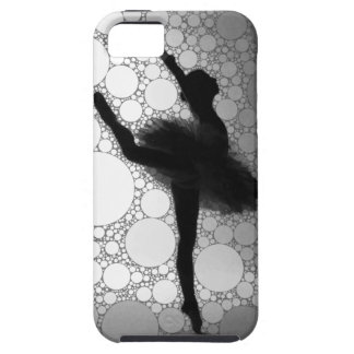Abstract Black & White Dancing Ballerina iPhone SE/5/5s Case