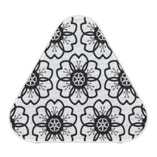 Abstract Black White Flower Doodle Heart Pattern. Bluetooth Speaker