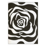 Abstract black white flower greeting cards