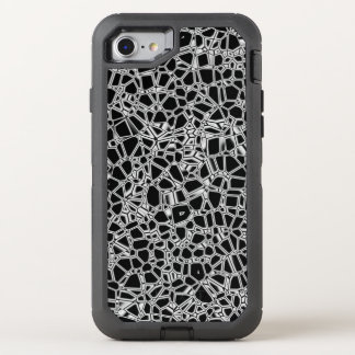 Abstract Black White Gothic Kryptonite OtterBox Defender iPhone 8/7 Case