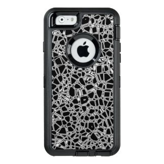 Abstract Black White Gothic Kryptonite OtterBox Defender iPhone Case