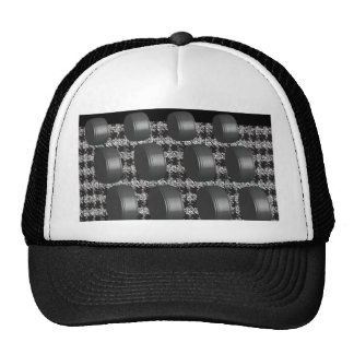 Abstract Black White Grey Trucker Hat