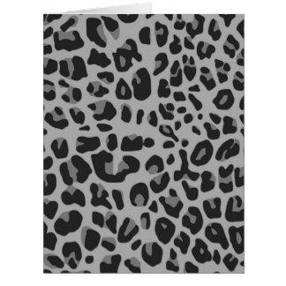 Abstract Black White Hipster Cheetah Animal Print Card