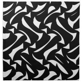 Abstract Black White Napkin