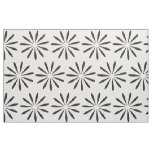 Abstract Black White Ornament Floral Pattern Fabric