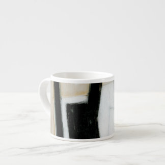 Abstract Black & White Painting Espresso Cup