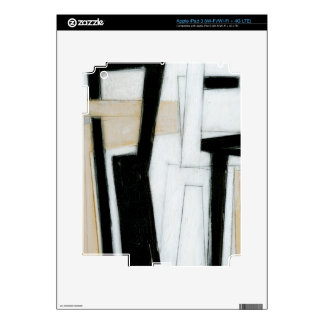 Abstract Black & White Painting iPad 3 Skin