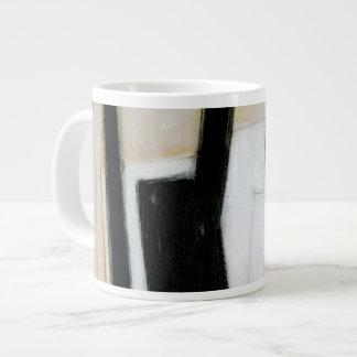 Abstract Black & White Painting Large Coffee Mug