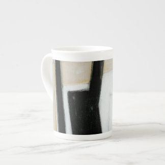 Abstract Black & White Painting Tea Cup