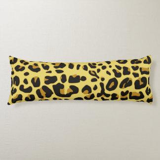 Abstract Black Yellow Hipster Cheetah Animal Print Body Pillow