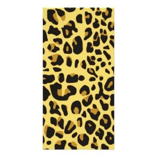 Abstract Black Yellow Hipster Cheetah Animal Print Card