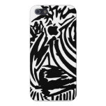 Abstract Blades & Stripes - Black iPhone 5/5S Case