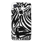 Abstract Blades & Stripes - Black Case For iPhone 4