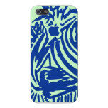 Abstract Blades & Stripes - Blue iPhone 5/5S Cases
