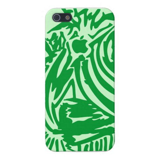 Abstract Blades & Stripes - Green iPhone 5/5S Case