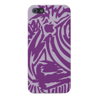 Abstract Blades & Stripes - Purple Case For iPhone SE/5/5s