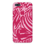Abstract Blades & Stripes - Red/Pink Case For iPhone 5/5S