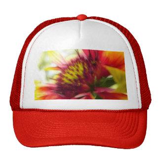 Abstract Blanket Flower Bloom Mesh Hats