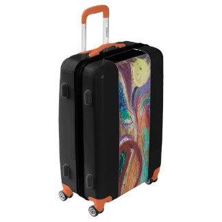Abstract bleeding heart luggage