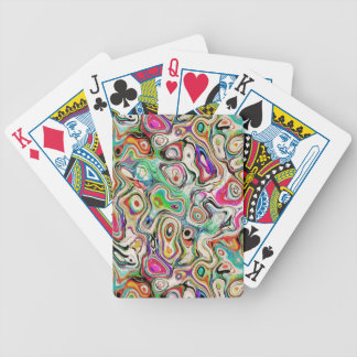 Abstract Blend of Colors Bicycle Playing Cards