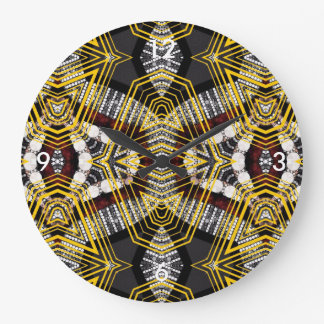 Abstract Bling Lips Large Clock