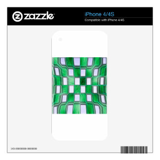 Abstract Block Rockin Decal For The iPhone 4