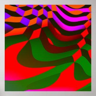 Abstract Blocks Cubist Print print