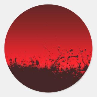 abstract blood splat classic round sticker
