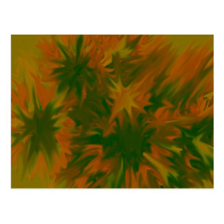 abstract blossoms post card