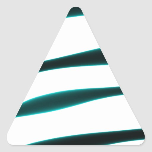 Abstract Blue and Black Curved Stripes Sticker
