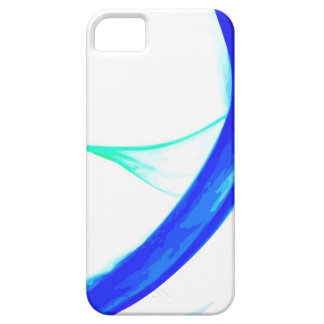 Abstract Blue And Blue Green Waves iPhone SE/5/5s Case