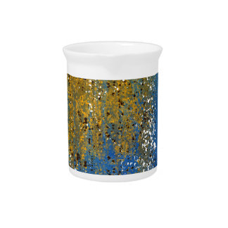 Abstract Blue and Bronze Design Pitchers