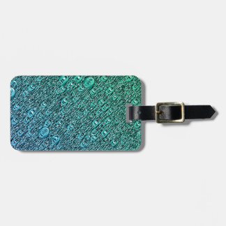 Abstract Blue And Green Shapes Luggage Tag