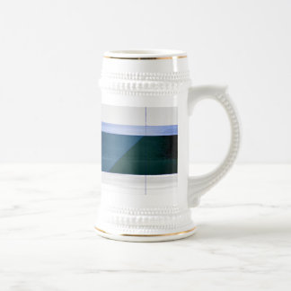 Abstract Blue and grey Beer Stein