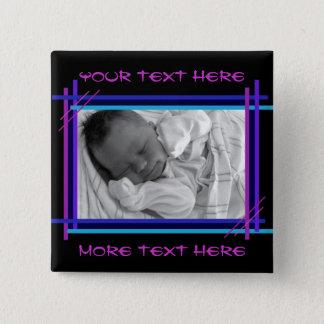 Abstract blue and indigo Frame Button