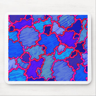 Abstract Blue and Pink Mouse Pad