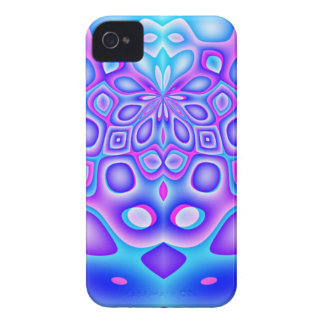 Abstract Blue and Pink Psychedelia iPhone 4 Cover