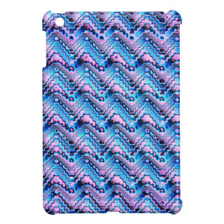 Abstract Blue And Purple Pattern Cover For The iPad Mini
