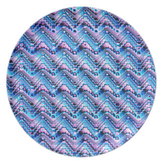 Abstract Blue And Purple Pattern Dinner Plate