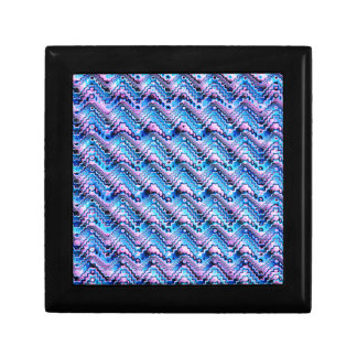Abstract Blue And Purple Pattern Gift Box