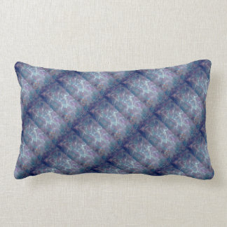 Abstract blue and purple pattern lumbar pillow